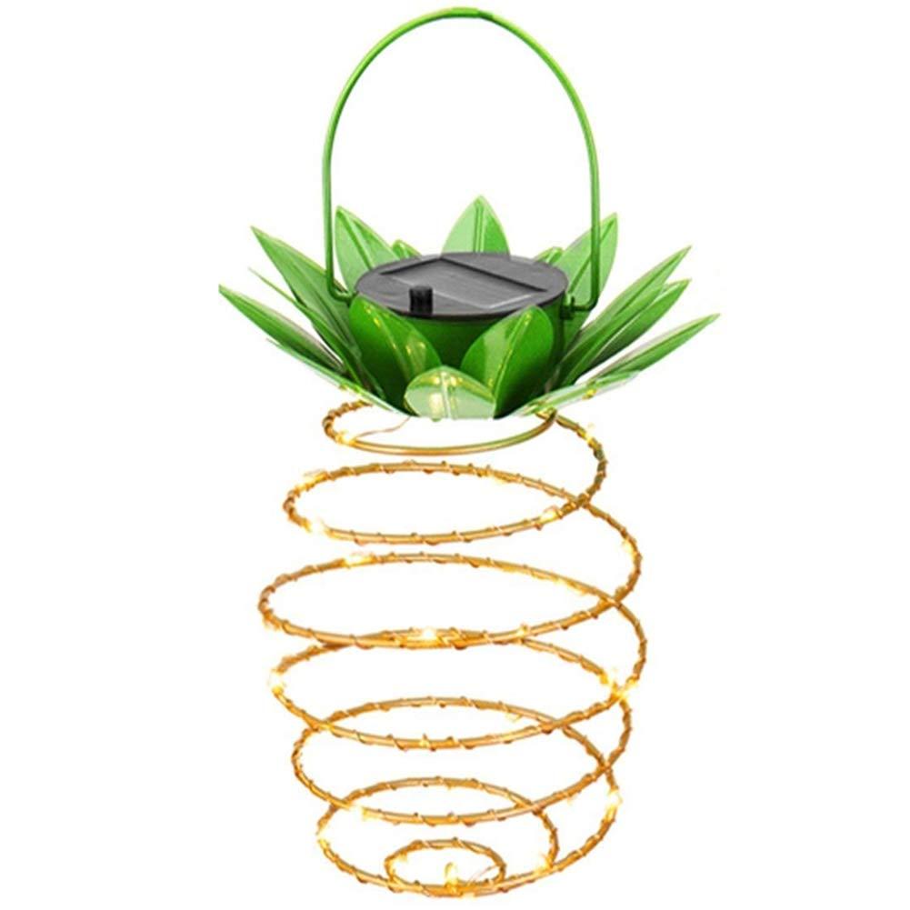 Adecorty Hanging Solar Lanterns, Pineapple Solar Garden Lights 1 Pack 30 LED Solar Lights Outdoor Decor Pineapple Fairy Lights Solar Path Lights, Waterproof Solar Light String for Garden Home Decor by Adecorty