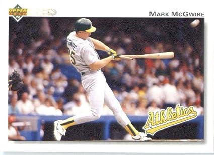 Amazoncom 1992 Upper Deck Baseball Card 153 Mark Mcgwire