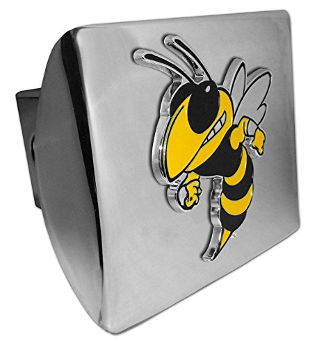 AMG Georgia Tech Buzz Mascot Metal on Chrome Metal Hitch Cover