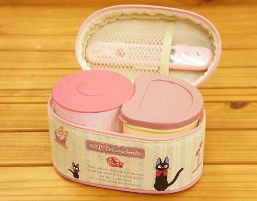 THERMOS Kiki's Delivery Service Lady's double-banked KCLJ7DXA Keep Warm lunch box w/Folk