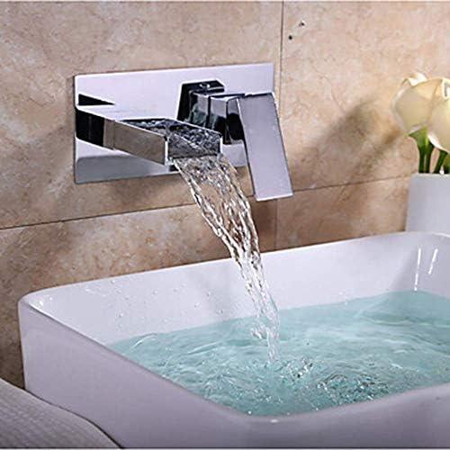 BXU-BG バスルームのシンクの蛇口滝クロム壁は二つの穴/蛇口/真鍮セラミックバルブが美しいと耐久性蛇口シングルハンドル2つの穴浴槽マウント