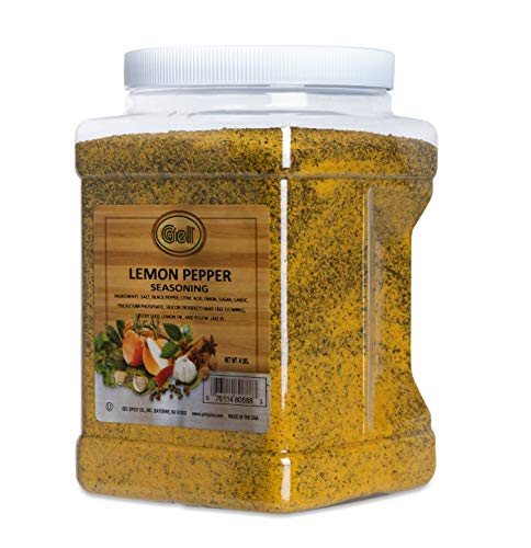 Gel Spice Lemon Pepper Seasoning 4 LB (64 OZ) Club Size