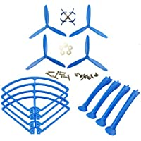 UUMART Syma X8C X8G X8W X8HC X8HW RC Quadcopter Spare Parts Upgraded Propeller+Protector+Landing Skid -Blue