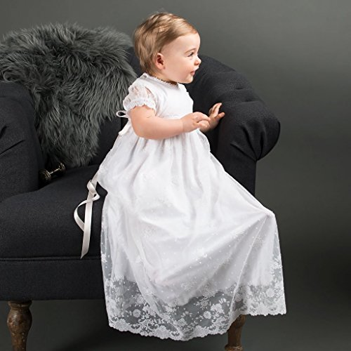 3855b9147e6 Amazon.com  Melissa Baby Girl Lace and Cotton Christening and Baptism gown  3-6mo Only  Handmade