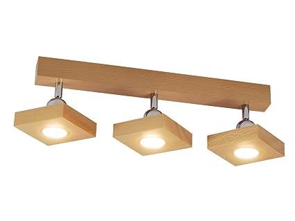 Plafoniere Led Per Cucina : Plafoniera spot a soffitto led illuminazione in legno