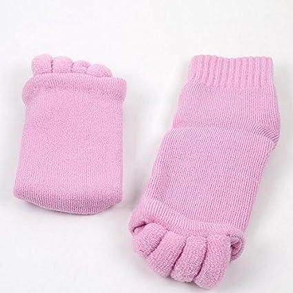 OUSSIRRO Cómodo Happy Pies Pie Alineación Calcetines Comfy los Dedos de los pies Calcetines de Dormir