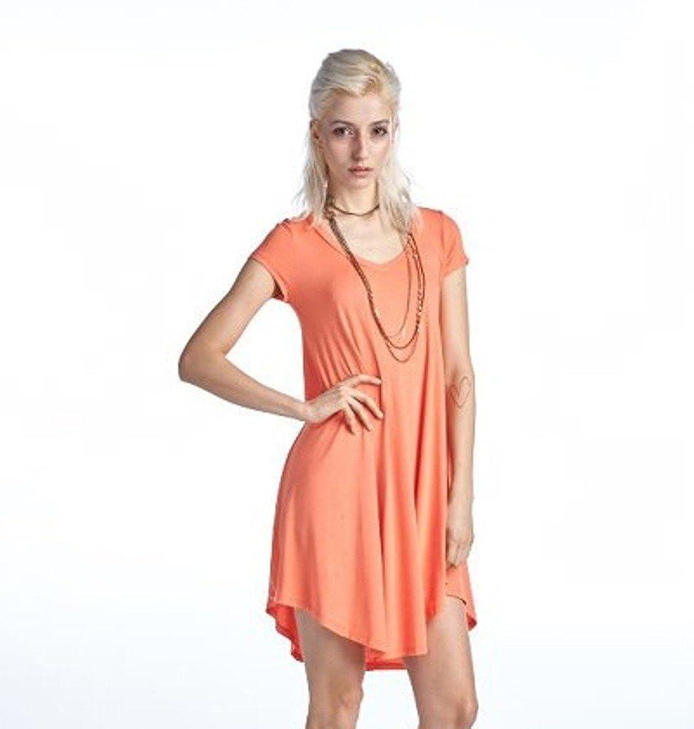 Reborn J Women's Casual Short Sleeve Tunic Dress at Amazon Women's ...