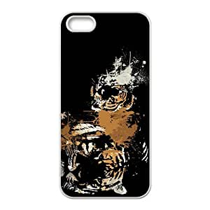 linJUN FENGSpray paint Tiger Hight Quality Plastic Case for Iphone 5s