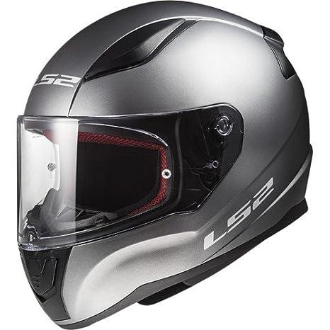 XS LS2 Casque moto RAPID DEADBOLT MAT Noir ORANGE Noir//Orange
