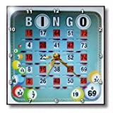 3dRose dpp_30660_1 Let s Play Bingo-Wall Clock, 10 by 10-Inch