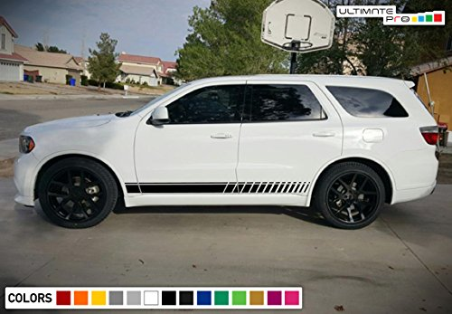 Decal Sticker Vinyl Side Sport Stripe Kit Compatible with Dodge Durango 2010-2017 (Decals Stripes Kit)
