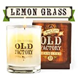 Old Factory Scented Candles - Lemongrass - Decorative Aromatherapy - Handmade in The USA with Only The Best Fragrance Oils - 11-Ounce Soy Candles