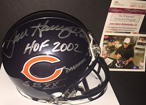 Dan Hampton Chicago Bears Signed Mini Helmet 3 Ins Danimal, HOF 2002, SBXX JSA WITNESS COA