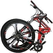 Eurobike G4 3-Spoke Wheels Folding Mountain Bike