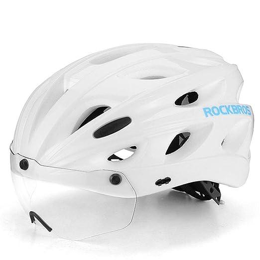 ZWYY Casco de Bicicleta con Gafas magnéticas Desmontables Mountain ...