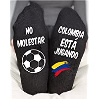 World Cup 2018 Unisex Socks Colombia Funny Game Gift Black