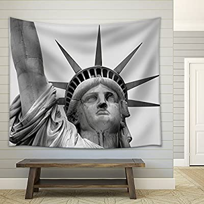 Closeup of The Statue of Liberty Fabric Wall Small