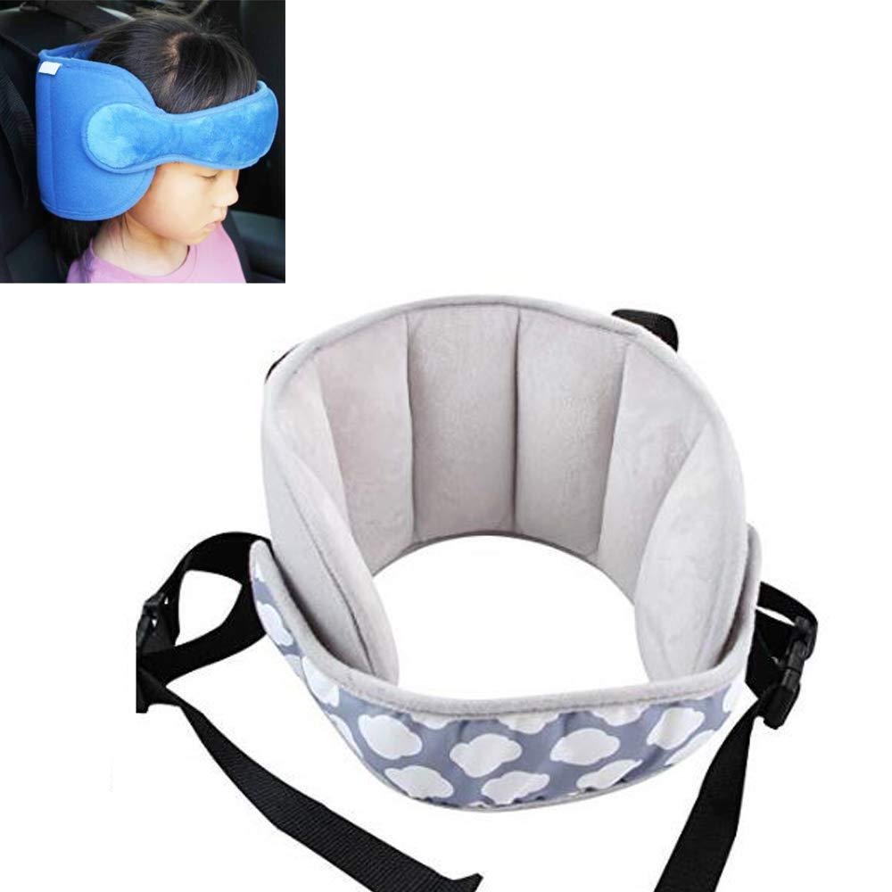 Banda di supporto per seggiolino auto per bambini blu, supporto per la testa, comoda soluzione di riposo sicura, cintura di supporto per la testa regolabile G-Tree