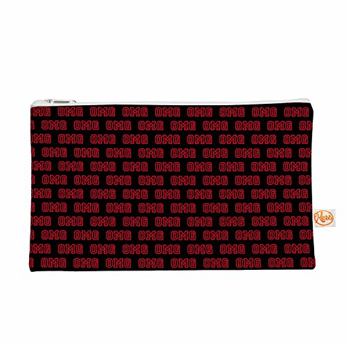 Kess eigene 12,5x 21,6cm Bruce Stanfield OMG Alles Tasche–Schwarz/Rot
