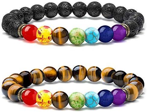 MOOHAM Chakra Bead Bracelets Aromatherapy