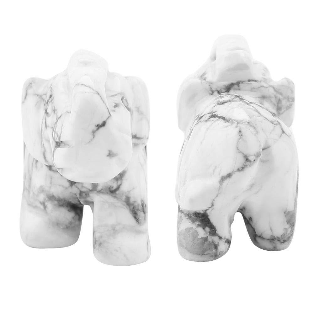 giada 3,8 cm 01 Elefante in pietra naturale portafortuna decorazione per casa intagliato
