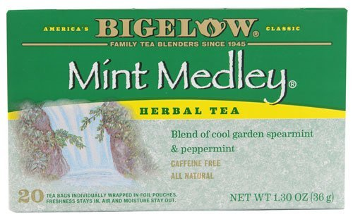 Bigelow Tea Herbal Tea Mint Medley Spearmint and Peppermint -- 20 Tea Bags - 2 pc