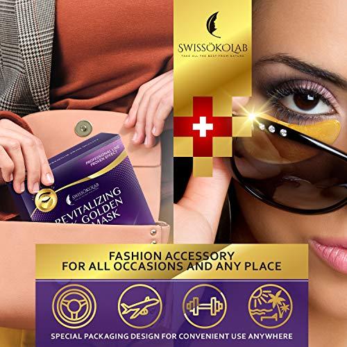 Under Eye Mask Gold Eye Mask AntiAging Hyaluronic Acid 24k Gold Eye Patches Under Eye Pads for