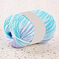 GlobalDeal 50g Hand Knitting Crochet Craft DIY Soft Comfortable Solid Color Woolen Yarn - Blue Mix
