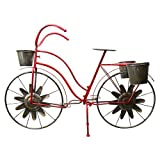Red Carpet Studios – Red Bicycle Plant Stand For Sale