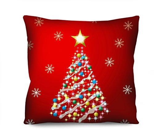Almofada Natal Arvore de Natal Vermelho 42x42