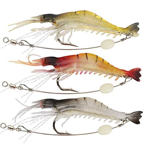 Shelure Soft Lures Shrimp Bait Set Kit Lots For Freshwater Trout Bass