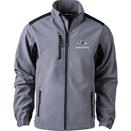 Dunbrooke Apparel NFL Baltimore Ravens Men's Softshell Jacket, Large, Black (Ravens Mens Apparel)