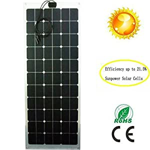 Greesonic Solar Panels 100w Flexible Solar Panel Thin Film