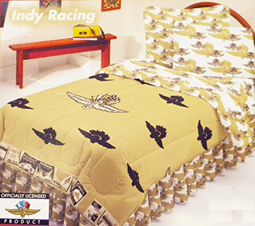 Indianapolis Motor Speedway Tan Colored Bedset (Queen - Indianapolis Queen 500