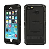 iPhone 6 Plus Case, oneCase™ Aluminum Alloy Metal Corning Gorilla Glass Shockproof Dustproof Weatherproof Limited Waterproof Case Military Heavy Duty Protection Hard Cover Kick Stand with charging Cable for Apple iPhone 6 Plus 5.5 inch