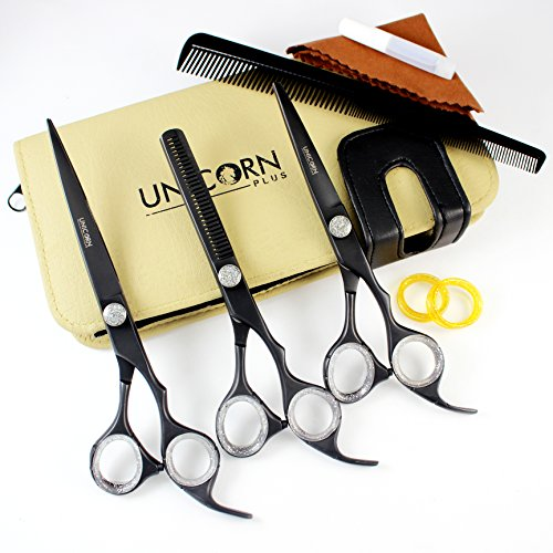- Professional hair Scissors Set,Hair Cutting Scissors Precision 3-piece Barber Shears Set,Regular Hairdressing Scissors 7.5 & 6.5 Inches thinning Shears Stainless Steel Scissors For Men/Women
