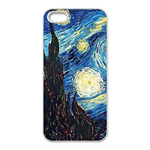 Vincent van Gogh starry night Phone Case for iPhone 5S(TPU)