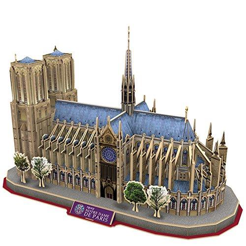 CubicFun 3D French Puzzles Cathedral Architecture Paris Building Church Model Kits Toys for Adults and Teens, Notre Dame de Paris (Notre Dame Toys)
