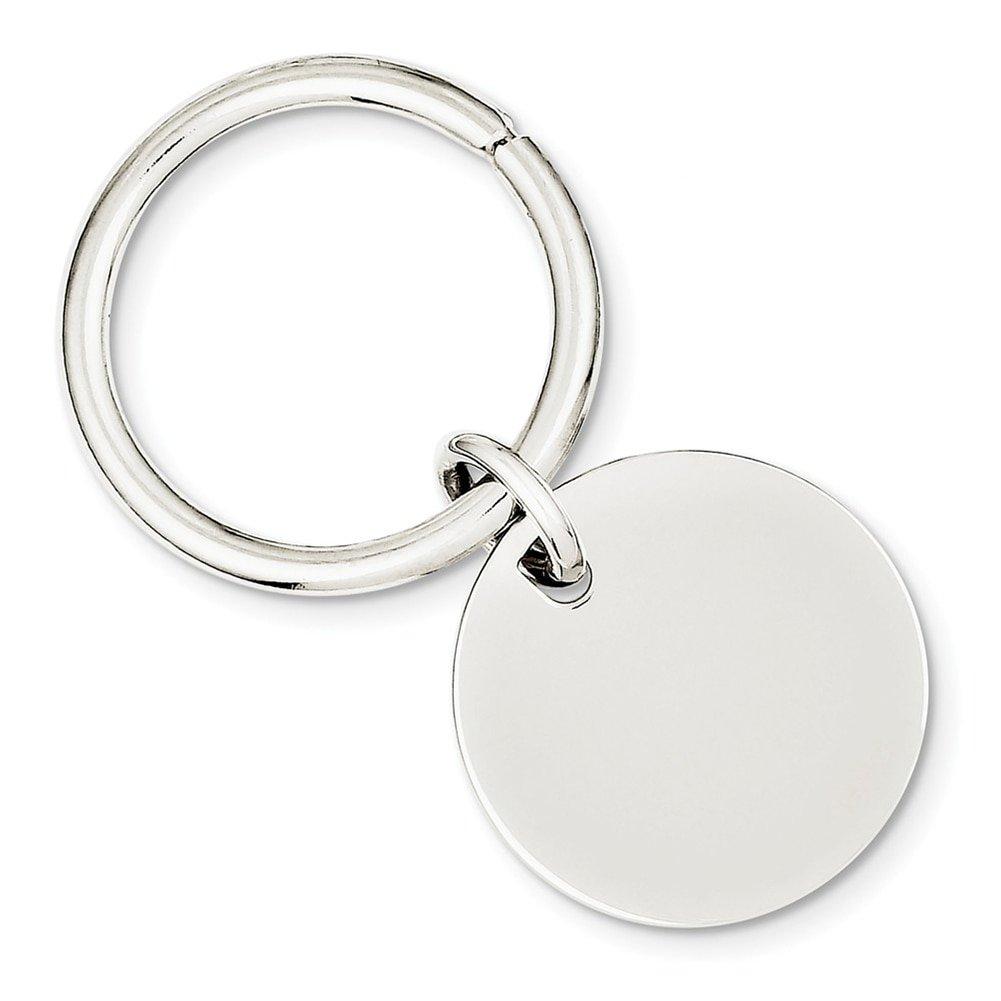 Lex & Lu Sterling Silver w/Rhodium Key Chain LAL116558