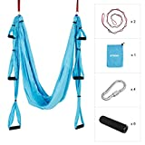 ENKEEO Yoga Swing Sling Set Ultra Strong Antigravity Yoga Hammock Holds Up to 400 Pounds for...