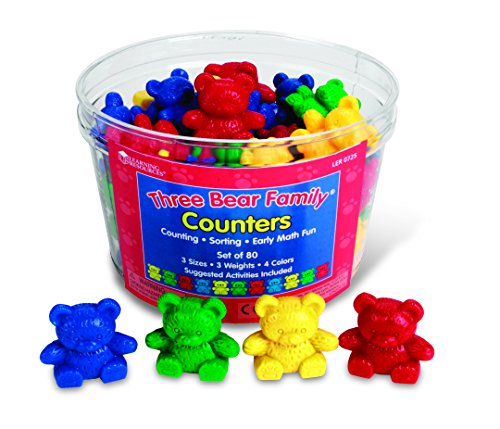 Learning Resources Three Bear - Learning Resources LER0725 Three Bear Family Counters