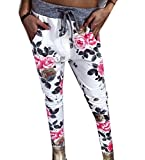 Zago Women Longline Casual Trousers Strappy Print Running Trouser As Picture S