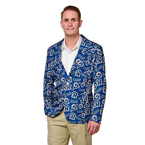 NFL Mens Repeat Logo Ugly Business Jacket (Los Angeles Rams , Small 42)