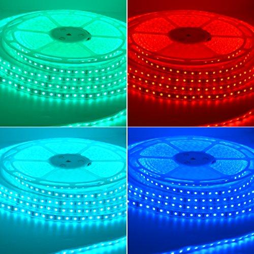 RGB LED Strip Light 20 Meters (65.6 ft) Flexible Color Changing Colorful SMD5050 1200 LEDs Light Strip 24V LED Strip Lights (IP67 Casing Waterproof) by S NMT (Image #2)