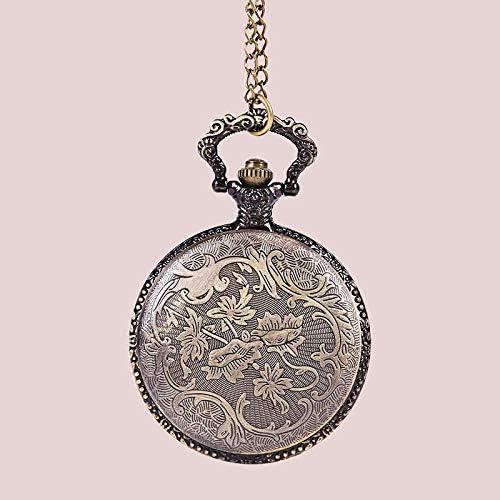 TAYIBO Antico Squisito Orologio da Tasca,Guarnizione Cava intagliata, Maschio e Femmina con Grande Orologio da Tasca Animale Pulcini