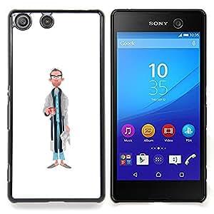 """For Sony Xperia M5 E5603 E5606 E5653 Case , Papá Retrato Arte Caricatura Hombre Gafas"""" - Diseño Patrón Teléfono Caso Cubierta Case Bumper Duro Protección Case Cover Funda"""