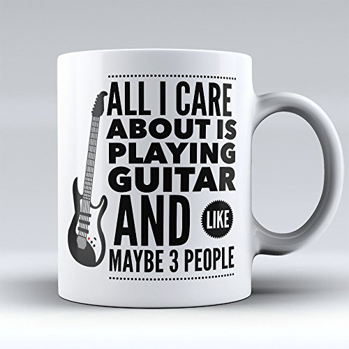 Guitarist Coffee Mug - Axe Player Coffee Cup - Funny Guitarist Gifts -