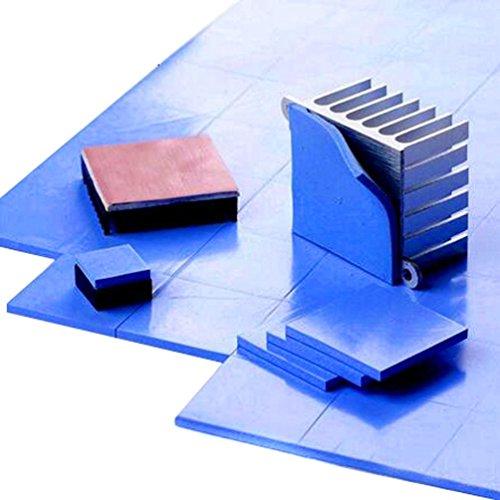 SIXQJZML 30Pcs 15x15x1mm Soft Silicone Thermal Conductive Pads Heatsink IC Chipset Northbridge for CPU GPU Heatsink by SIXQJZML (Image #4)
