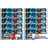 2018/19 Topps Match Attax English Premier League Soccer Collection of TEN(10) Factory Sealed Foil Packs with 70 Cards! Look for Cards of all the Top Stars of the Premier League! Imported from England!