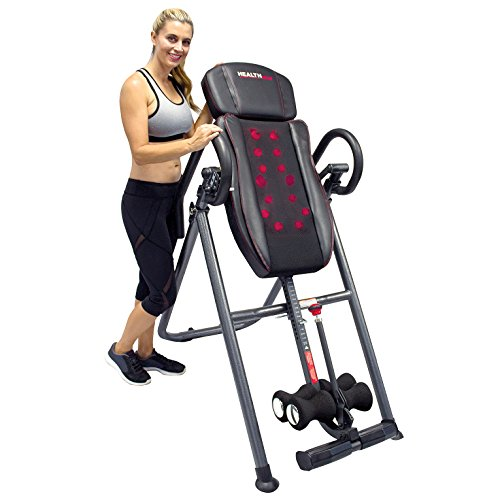 HealthGear ITM7.0-S Patented Deep Tissue Shiatsu Heat & Massage Inversion Table by Health Gear